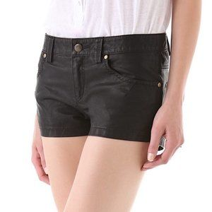 FREE PEOPLE Vegan Leather Shorts - Black, Size 4